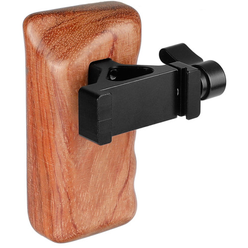 CAMVATE Wooden Handgrip with Arca-Style Clamp (Left-Handed)