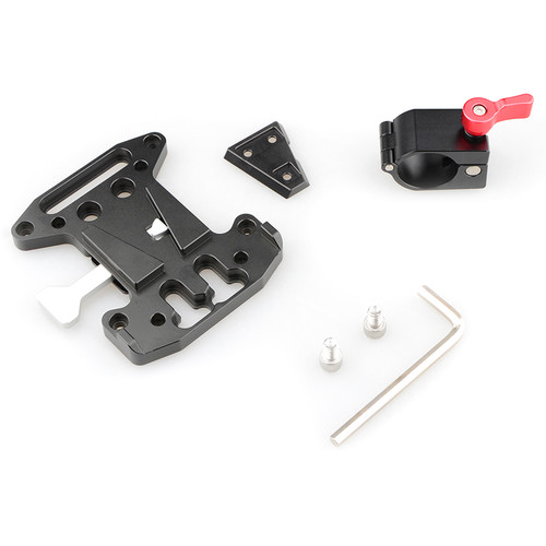 CAMVATE Quick Release V-Lock Plate With 25mm Rod Clamp