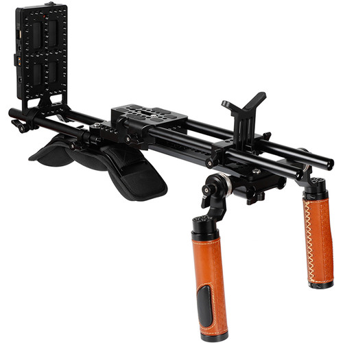 "CAMVATE Camcorder Shoulder Mount Video Rig With 12"" ARRI-Style Dovetail Bridge Plate"