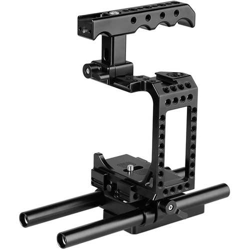 CAMVATE Half Cage Kit with QR Baseplate & Top Cheese Handle for Select Sony Cameras