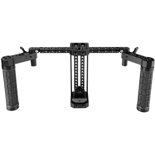 """CAMVATE Adjustable 7"""" Monitor Cage Rig with Rubber Handgrips for SmallHD 700 Series"""