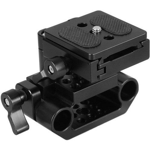 CAMVATE Arca-Swiss-Style QR Plate & Cage Base with 15mm Dual-Rod Clamp