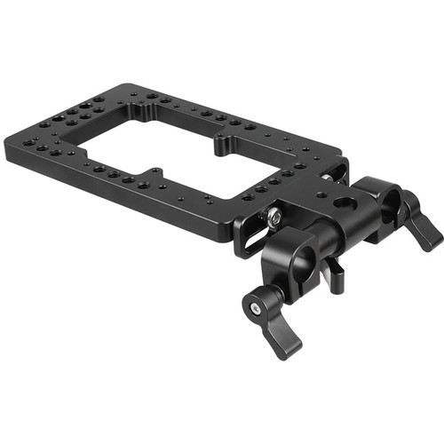 CAMVATE Cheese Plate With Adjustable 15mm Rod Clamp For Double-Side Power Supply System