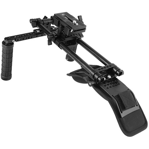 CAMVATE Shoulder Mount Kit with Manfrotto QR Plate & 15mm Railblock Support System