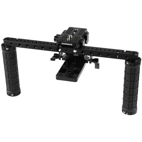 CAMVATE DSLR Camera Supporting Rig With Manfrotto Quick Release Plate For Shoulder Mount Rig