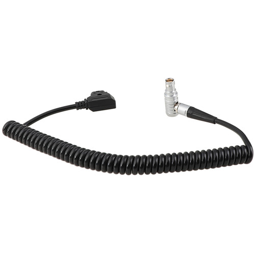 CAMVATE Coiled D-Tap to Right-Angle 4-Pin Power Cable for Canon C200/C300 Mark II