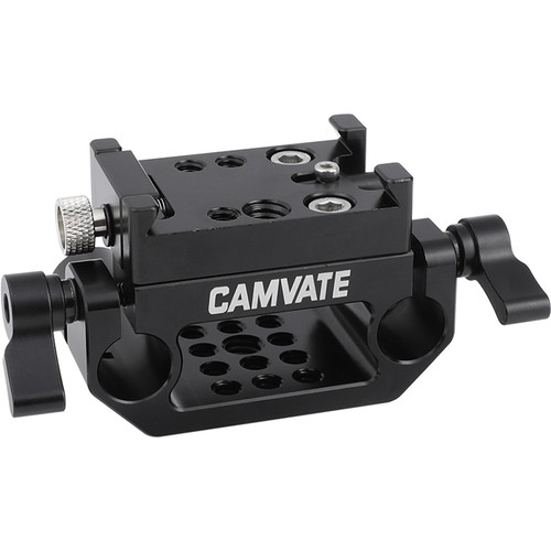 CAMVATE Manfrotto-Style Plate Sliding Mount With 15mm Rod Port