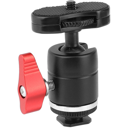 CAMVATE Mini Ball Head with Shoe Mount Adapter