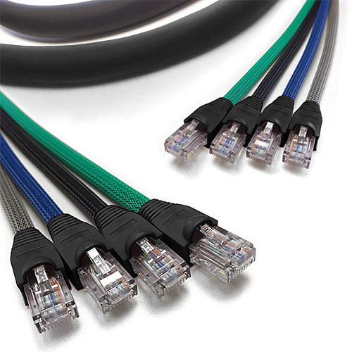 FLEXYGY FLEX4 4-Channel Rugged Cat5e UTP Snake Cable (75')