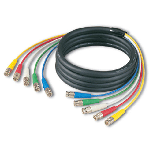 Canare 5VS03A-5C 5-Channel BNC to BNC Video Fantail Cable (9.8')