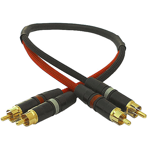 Canare Stereo Audio RCA Interconnect Cable (1')