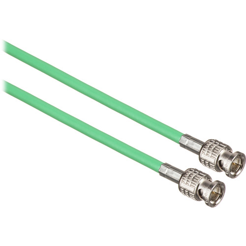 Canare 15' L-3CFW RG59 HD-SDI Coaxial Cable with Male BNCs (Green)