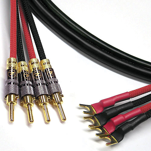 Canare 4S11 Speaker Cable 4 Spade to 4 Banana (12')