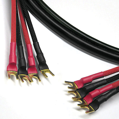 Canare 11 AWG 4S11 Bi-Wire Speaker Cable with Four Spade to Four Spade (30')