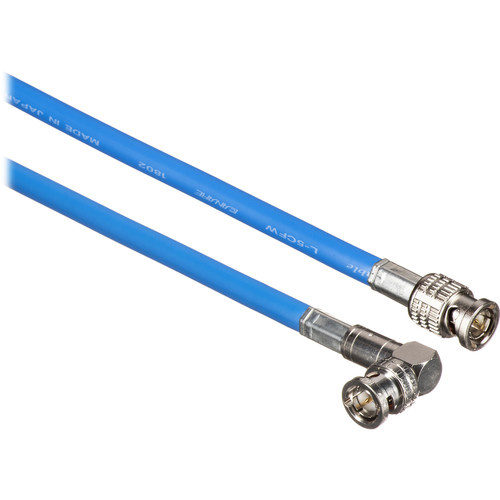 Canare Male to Right Angle Male HD-SDI Video Cable (Blue, 1')