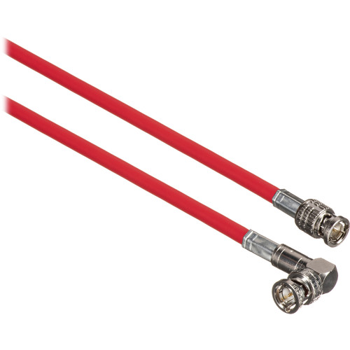 Canare Male to Right Angle Male HD-SDI Video Cable (Red, 1')