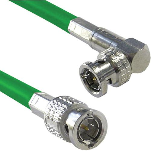Canare Male to Right Angle Male HD-SDI Video Cable (Green, 50')