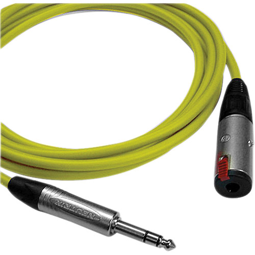 Canare Starquad TRSM-TRSF Extension Cable (Yellow, 3')