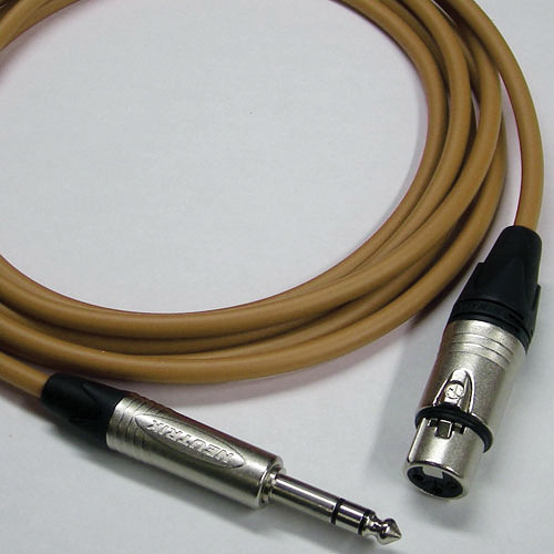 """Canare Star Quad 3-Pin XLR Female to 1/4"""" TRS Male Cable (Brown, 75')"""