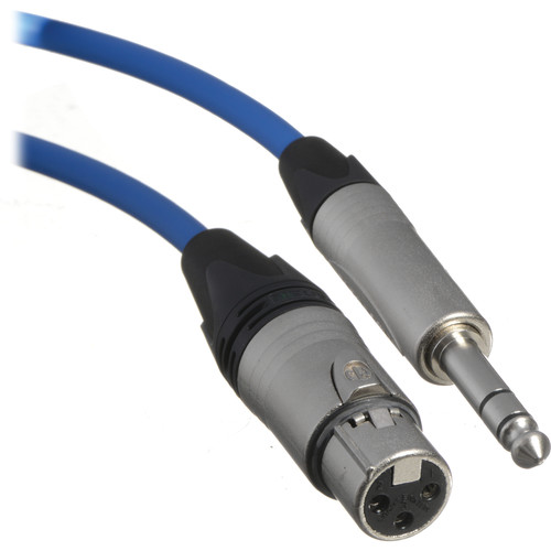 Canare Starquad XLRF-TRSM Cable (Blue, 100')