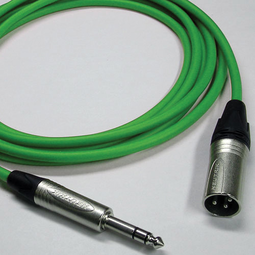 Canare Starquad XLRM-TRSM Cable (Green, 2')