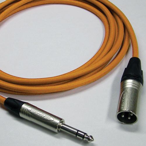 Canare Starquad XLRM-TRSM Cable (Orange, 3')