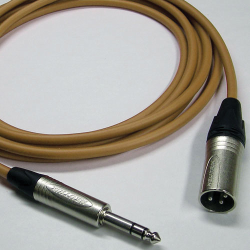 Canare Star Quad 3-Pin XLR Male to 1/4 TRS Male Cable (Brown, 15')