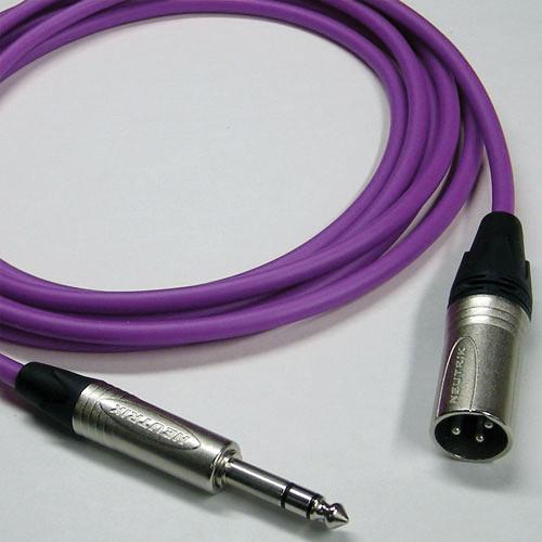 Canare Star Quad 3-Pin XLR Male to 1/4 TRS Male Cable (Purple, 75')