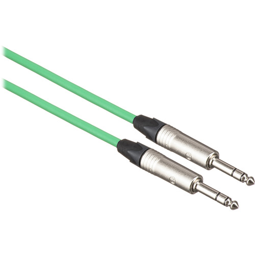 Canare Starquad TRSM-TRSM Cable (Green, 1')