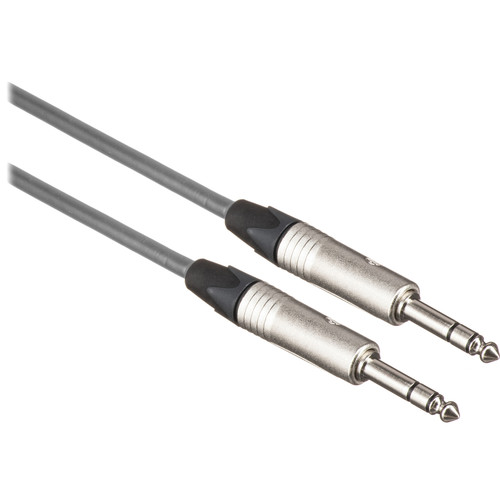 """Canare Star Quad 1/4"""" TRS Male to 1/4"""" TRS Male Cable (Grey, 3')"""