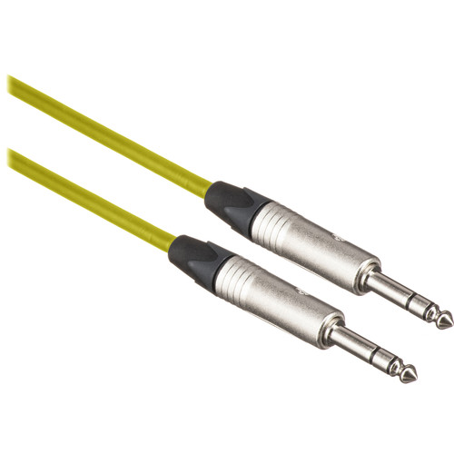 "Canare Star Quad 1/4"" TRS Male to 1/4"" TRS Male Cable (Yellow, 10')"