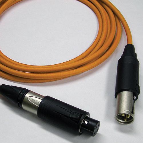 Canare Starquad XLRM Cable with Neutrik Unisex XLRM/XLRF (Orange, 10')