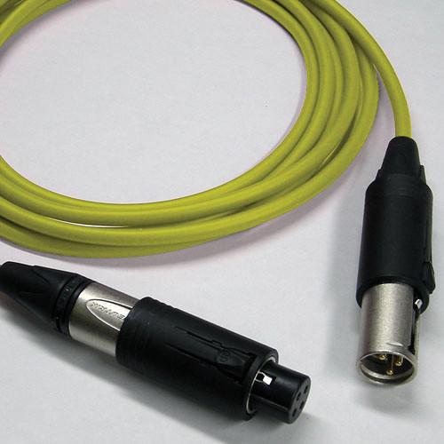 Canare Starquad XLRM Cable with Neutrik Unisex XLRM/XLRF (Yellow, 10')