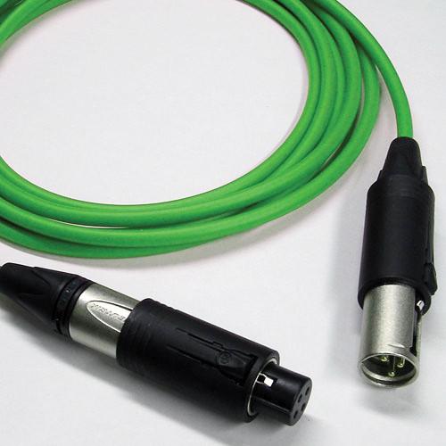 Canare Starquad XLRM Cable with Neutrik Unisex XLRM/XLRF (Green, 20')