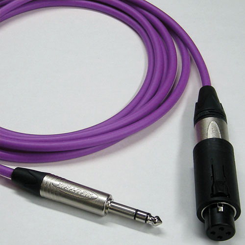 Canare Starquad Unisex XLR-TRSM Cable (Purple, 10')