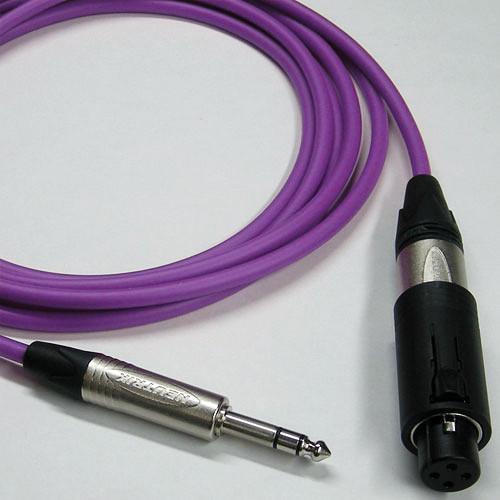 Canare Starquad Unisex XLR-TRSM Cable (Purple, 100')