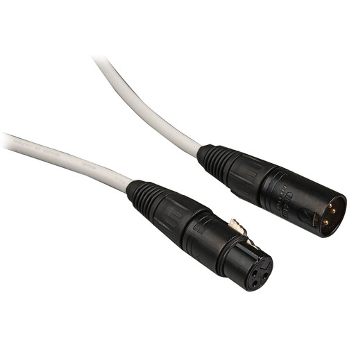 Canare L-4E6S Star Quad XLRM to XLRF Microphone Cable - 100' (White)
