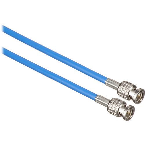 Canare 50' L-3CFW RG59 HD-SDI Coaxial Cable with Male BNCs (Blue)