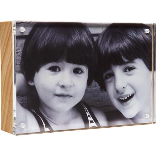 "Canetti Design Group Wood Back Magnet Frame (2.5 x 3.5"", Natural Wood)"