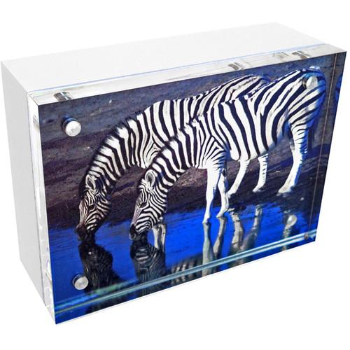 "Canetti Design Group Wood Back Magnet Frame (2.5 x 3.5"", White)"
