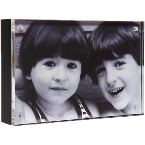 "Canetti Design Group Wood Back Magnet Frame (3.5 x 5"", Black)"