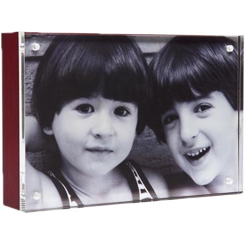 "Canetti Design Group Wood Back Magnet Frame (3.5 x 5"", Mahogany)"