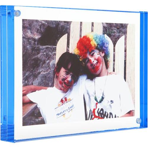 "Canetti Design Group Color Edge Magnet Frame (2.5 x 3.5"", Blue)"
