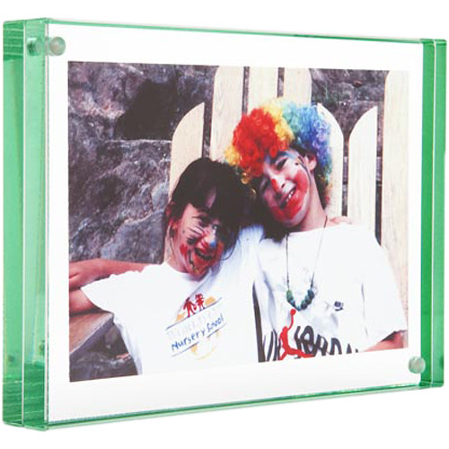 "Canetti Design Group Color Edge Magnet Frame (4 x 6"", Green)"