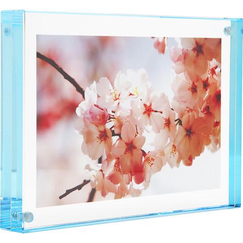 "Canetti Design Group Color Edge Magnet Frame (2.5 x 3.5"", Aqua)"