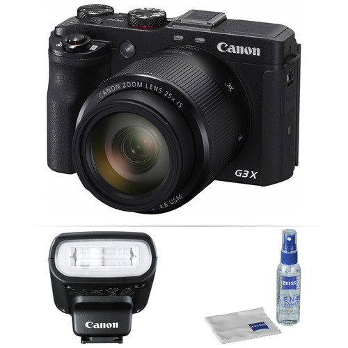 Canon PowerShot G3 X Digital Camera with Flash Kit