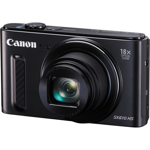 Canon PowerShot SX610 HS Digital Camera (Black)