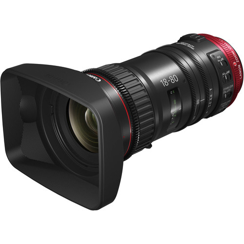 Canon CN-E 18-80mm T4.4 Compact-Servo Cinema Zoom Lens with Serial Port (EF Mount)