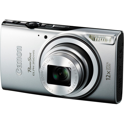 Canon Powershot ELPH 350 HS Digital Camera (Silver)