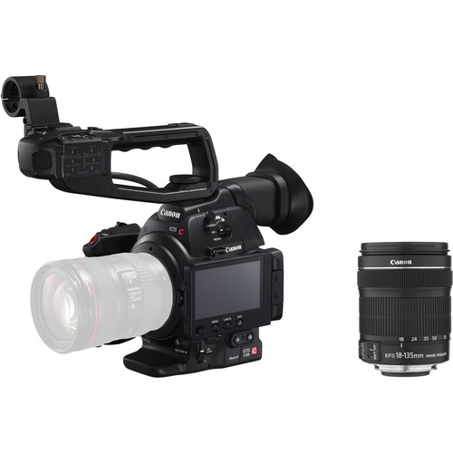 Canon EOS C100 Mark II Cinema EOS Camera with EF-S 18-135mm IS STM Lens